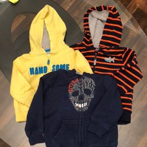 3 Boys 12 Month Hoodies